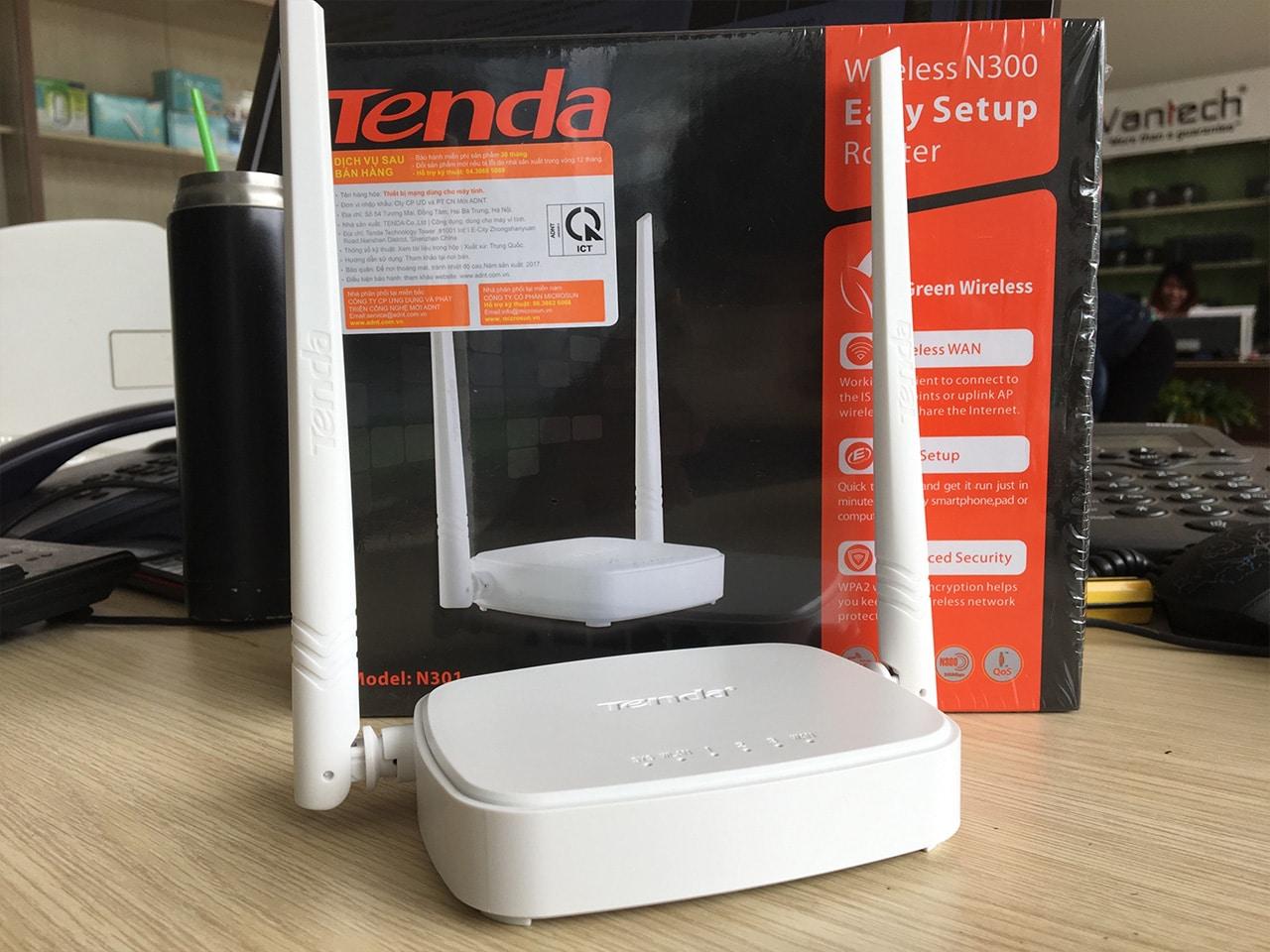 Kết quả hình ảnh cho Bộ Phát Wifi Tenda N301